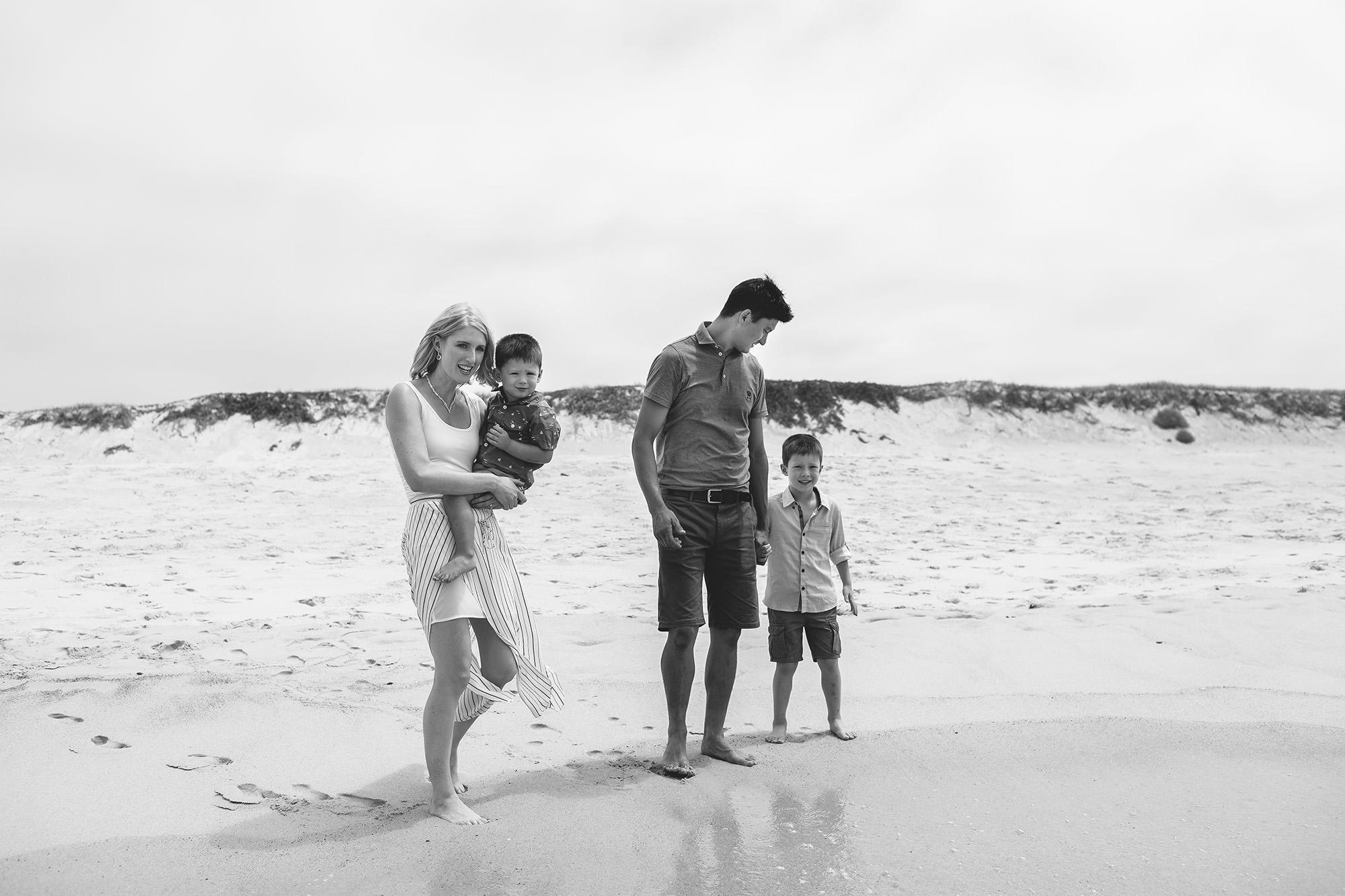 family photoshoot on beach