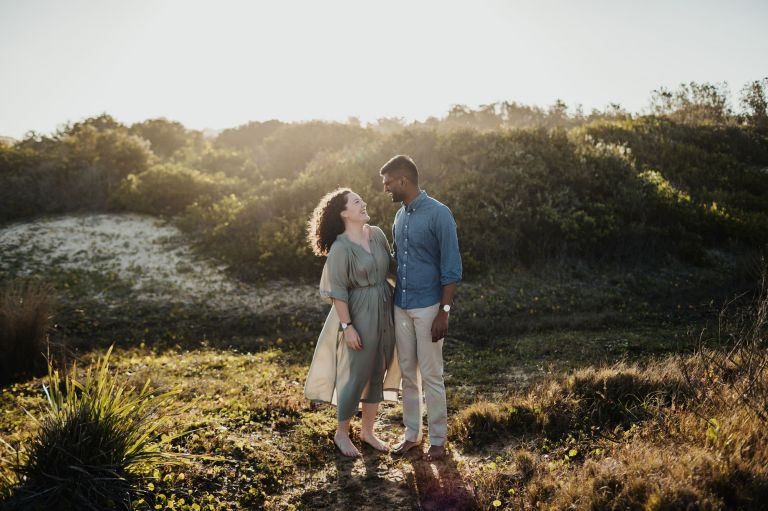 dudley beach newcastle engagement photography